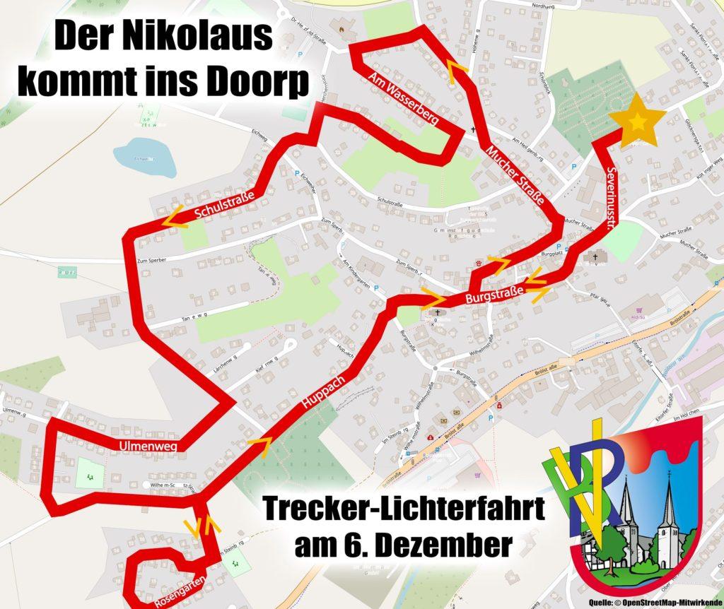 Nikolaus auf Lichterfahrt durch den historischen Ortskern